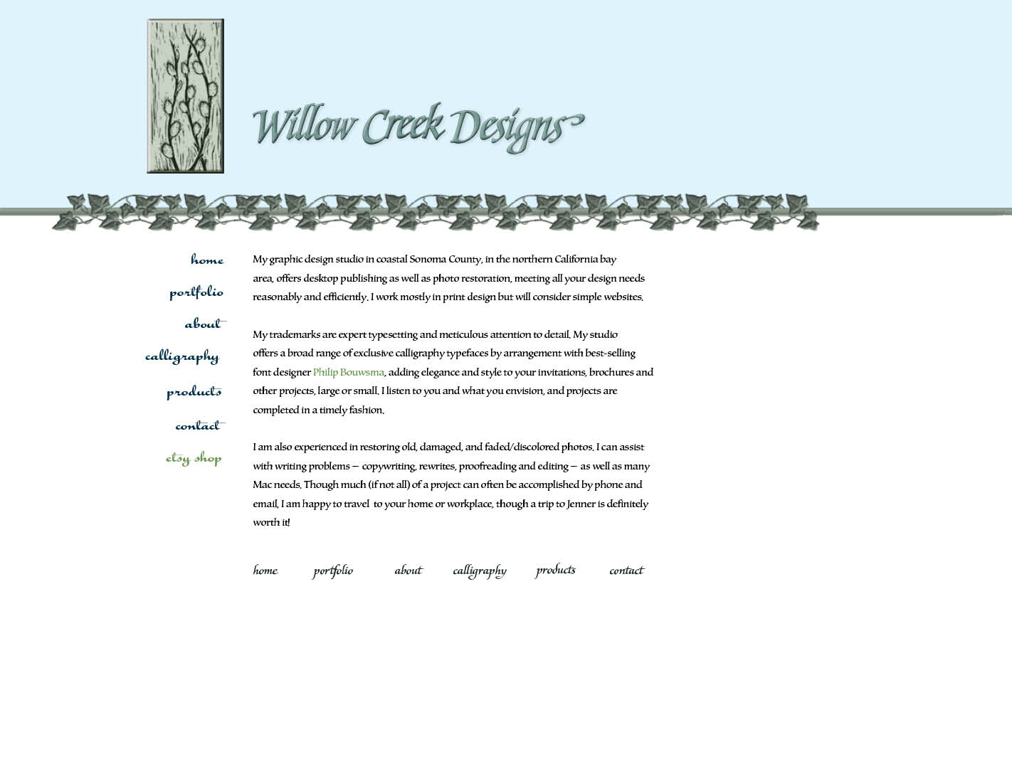 Welcome to willow creek designs for Willow creek designs